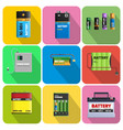 colorful charging devices set vector image vector image
