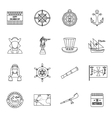 Columbus Day icons set outline style vector image vector image
