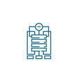 company structure linear icon concept company vector image vector image