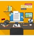 E-learning German language vector image vector image