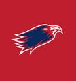 eagle head sport mascot design template vector image vector image