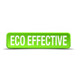 eco effective green 3d realistic square isolated vector image vector image