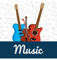 electric guitars and violin instruments vector image vector image