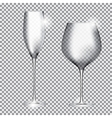 Empty Glass of Champagne and Wine on Transparent vector image vector image