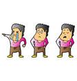 explainer teenage boy character design vector image vector image