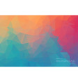 extra color geometric triangle wallpaper vector image vector image