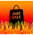 fire background sale vector image vector image