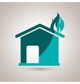 fire emergency concept design vector image