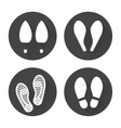 Flat footprint icons set vector image vector image