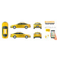 flat high quality city service transport icon set vector image
