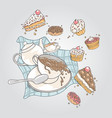 food all in vacation vector image