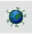 Go green design template Environment vector image vector image