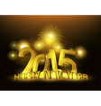 Happy New Year 2015 Gold Platinum vector image vector image