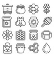 honey icons set on white background line style vector image vector image