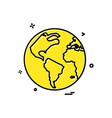 map globe icon design vector image