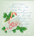 merry christmas and happy new year card with fir vector image vector image