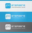 modern typography design vector image vector image