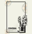 movie camera poster vector image vector image