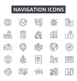 navigation line icons signs set outline vector image vector image