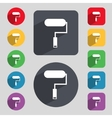 Paint roller sign icon Painting tool symbol Set of vector image