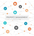 property management trendy web template vector image