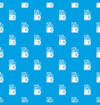 purse pattern seamless blue vector image vector image