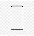 realistic smartphone mockup blank phone with vector image