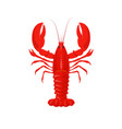 red lobster cancer product for restaurant fresh vector image vector image