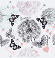seamless floral background with dandelions vector image vector image