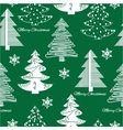 Seamless pattern of stylization firs on green vector image vector image