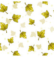 seamless pattern with falling green leaves vector image vector image