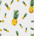 seamless pattern with polygonal pineapple fruit vector image