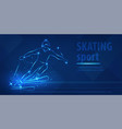 skiing speed race skating sport ice skiing race vector image vector image