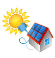 solar energy electricity in house vector image vector image