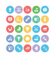 Sports Colored Icons 9 vector image vector image
