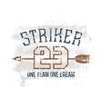 Sports print striker vector image vector image