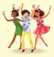 students party poster vector image