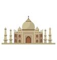 Taj mahal architecture vector image vector image
