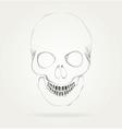 the symbol skull vector image vector image