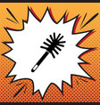 toilet brush doodle comics style icon on vector image