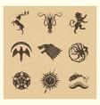 vintage great kingdoms houses gaming heraldic vector image