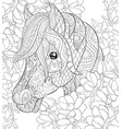 Adult coloring bookpage a cute horse image