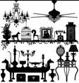 antique home decoration furniture interior design vector image