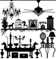 antique home decoration furniture interior design vector image vector image