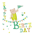 Baby Bear Birthday Card vector image