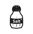 black salt shaker icon vector image vector image