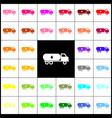 car transports oil sign felt-pen 33 vector image vector image