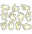 cartoon hands theme collection 1 vector image