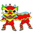 Chinese New Year Celebration Lion Dance vector image vector image