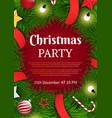 christmas party on 25th december xmas poster vector image vector image